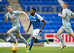 St Johnstone v Hartlepool…22.07.17… McDiarmid Park… Pre-Season Friendly<br />Romaine Habran gets between Conor Newton and Michael Woods<br />Picture by Graeme Hart.<br />Copyright Perthshire Picture Agency<br />Tel: 01738 623350  Mobile: 07990 594431