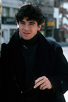 EXCLUSIVE FILE PHOTO :  Patrick Bruel in the street of Montreal,  april 1988.<br /> <br /> <br /> Photo :  Pierre Roussel  - Agence Quebec Presse