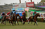 DEL MAR, CA  JULY 24: The start of the San Clemente Stakes (Grade ll) on July 24, 2021 at Del Mar Thoroughbred Club in Del Mar, CA  (Photo by Casey Phillips/Eclipse lSportswire/CSM)