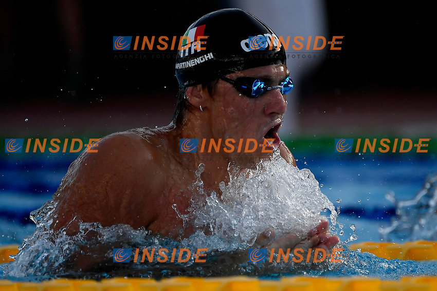 Nicolo Martinenghi of Italy prepares to compete in the men 100m breaststroke during the 58th Sette Colli Trophy International Swimming Championships at Foro Italico in Rome, June 25th, 2021. Nicolo Martinenghi placed first with the new italian record.<br /> Photo Andrea Staccioli/Insidefoto/Deepbluemedia