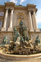 Fountain at National Gellery, Budapest Castle, Hungary