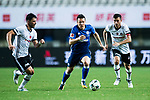 FC Schalke Midfielder Yevhen Konoplyanka (C) fights for the ball with Besiktas Istambul Midfielder Tolgay Arslan (L) during the Friendly Football Matches Summer 2017 between FC Schalke 04 Vs Besiktas Istanbul at Zhuhai Sport Center Stadium on July 19, 2017 in Zhuhai, China. Photo by Marcio Rodrigo Machado / Power Sport Images