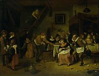 Farmer's wedding - by Jan Havicksz Steen, 1672