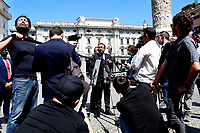 Minister of Justice Alfonso Bonafede speaks with the press outside Palazzo Chigi. Rome (Italy), June 26th 2020<br /> Foto Samantha Zucchi Insidefoto