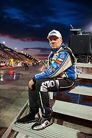 Jul 19, 2019; Morrison, CO, USA; NHRA funny car driver John Force during qualifying for the Mile High Nationals at Bandimere Speedway. Mandatory Credit: Mark J. Rebilas-USA TODAY Sports