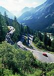 Schweiz, Graubuenden, Oberengadin, Serpentinen am Majolapass | Switzerland, Graubuenden, Upper Engadin, serpentines at Majola pass