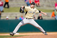 Starting pitcher Tim Cooney #35 of the Wake Forest Demon Deacons in action against the Virginia Tech Hokies at English Field March 27, 2010, in Blacksburg, Virginia.  Photo by Brian Westerholt / Four Seam Images
