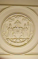 The state seal at Iolani palace, Oahu
