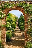 France, Cher, Berry, Route Jacques Coeur, Ainay le Vieil, Chateau d'Ainay le Vieil, castlel gardens, the Chartreuses // France, Cher (18), Berry, Route Jacques Coeur, Ainay-le-Vieil, jardins du château, les chartreuses