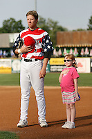 July 3, 2007: Sean Doolittle of the Kane County Cougars and young fan at Elfstrom Stadium in Geneva, IL  Photo by:  Chris Proctor/Four Seam Images
