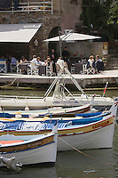 Europe/France/Corse/2B/Haute-Corse/Erbalunga: Terrasse du  restaurant  Le Pirate, sur le port