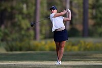 CHAPEL HILL, NC - OCTOBER 13: Riley Smith of the University of Virginia tees off at UNC Finley Golf Course on October 13, 2019 in Chapel Hill, North Carolina.