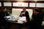 KIEV, UKRAINE - December 29, 2004: Viktor Yushchenko in one of his Kiev offices. Election polls show him as a clear winner  in the presidential race.