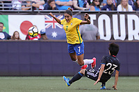 Seattle, WA - July 27, 2017: Brazil tied Japan 1-1 during the first match of the Tournament of Nations at CenturyLink Field.