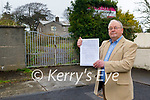 Tommy Collins standing at the gates to the former Christian Brothers Monastery in Castlecountess on Tuesday.