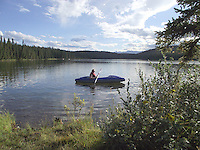 The pristine setting of Fish Lake Alberta offers some spectacular scenery.