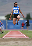 Smith Valley's Alondra Perez competes in the the NIAA Track & Field Championships at Carson High in Carson City, Nev., on Friday, May 18, 2018. <br /> Photo by Cathleen Allison/Nevada Momentum
