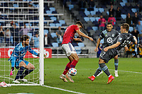 SAINT PAUL, MN - MAY 15: Robin Lod #17 of Minnesota United FC scores a goal during a game between FC Dallas and Minnesota United FC at Allianz Field on May 15, 2021 in Saint Paul, Minnesota.