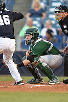 Daytona Tortugas catcher Chad Wallach (15) waits for a pitch during a game against the Tampa Yankees on April 24, 2015 at George M. Steinbrenner Field in Tampa, Florida.  Tampa defeated Daytona 12-7.  (Mike Janes/Four Seam Images)