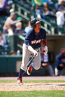 Toledo Mudhens shortstop Dixon Machado (6) at bat during a game against the Rochester Red Wings on June 12, 2016 at Frontier Field in Rochester, New York.  Rochester defeated Toledo 9-7.  (Mike Janes/Four Seam Images)