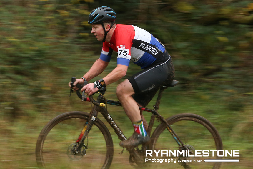 EVENT:<br /> Round 5 of the 2019 Munster CX League<br /> Drombane Cross<br /> Sunday 1st December 2019,<br /> Drombane, Co Tipperary<br /> <br /> CAPTION:<br /> Indrek Mannik of Blarney Cycling Club in action during the B Race<br /> <br /> Photo By: Michael P Ryan
