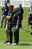 Real Madrid and Wales footballer Gareth Bale and former British Lions and Wales rugby union player Gareth Edwards during The 2017 Celebrity Cup at the Celtic Manor Resort, Newport, South Wales, 01.07.2017<br /> <br /> <br /> Jeff Thomas Photography -  www.jaypics.photoshelter.com - <br /> e-mail swansea1001@hotmail.co.uk -<br /> Mob: 07837 386244 -