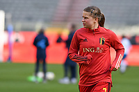 Aster Janssens (7) of Belgium pictured during a Womens International Friendly game between Belgium , called the Red Flames and Norway at Koning Boudewijnstadion in Brussels , Belgium. Photo Sportpix.be / SPP