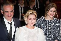 director Olivier Assayas, actress Kristen Stewart, Sigrid Bouaziz - CANNES 2016 - DESCENTE DU FILM 'PERSONAL SHOPPER'