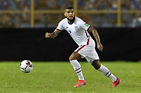 SAN SALVADOR, EL SALVADOR - SEPTEMBER 2: DeAndre Yedlin #2 of the United States moves with the ball during a game between El Salvador and USMNT at Estadio Cuscatlán on September 2, 2021 in San Salvador, El Salvador.