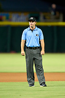 Umpire Tom West during a game between the Memphis Redbirds and Jacksonville Jumbo Shrimp on September 25, 2021 at 121 Financial Ballpark in Jacksonville, Florida.  (Mike Janes/Four Seam Images)