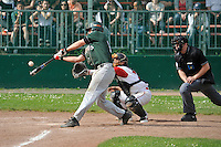 April 27, 2008:  New York Mets International Singing Kai Gronauer at bat while playing amateur baseball in Germany.  Gronauer, a catcher, signed with the Mets in 2008.  Photo By Gregor Eisenhuth/Four Seam Images