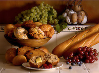 Fresh baked muffins and bread.