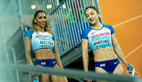 1st May 2021; Silesian Stadium, Chorzow, Poland; World Athletics Relays 2021. Day 1; Laviai Nielsen and Emily Diamond talking after their heat in the mixed x 400 for GB
