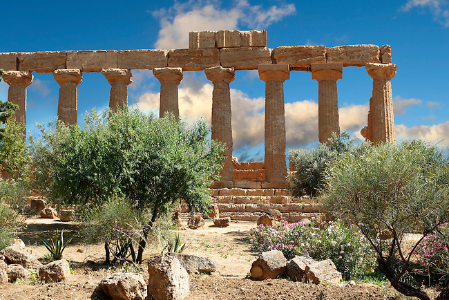 Greek Temple of Juno Lacina, Agrigento, sicily