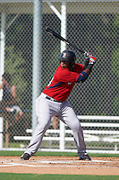Boston Red Sox Jerry Downs (20) during an instructional league game against the Minnesota Twins on September 26, 2015 at CenturyLink Sports Complex in Fort Myers, Florida.  (Mike Janes/Four Seam Images)