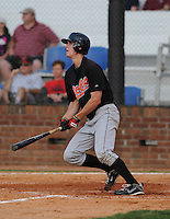 August 1, 2009: Outfielder Mikey Planeta (14) of the Bluefield Orioles, rookie Appalachian League affiliate of the Baltimore Orioles in a game at Howard Johnson Field in Johnson City, Tenn. Photo by: Tom Priddy/Four Seam Images