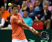 13-sept.-2013,Netherlands, Groningen,  Martini Plaza, Tennis, DavisCup Netherlands-Austria, First Rubber,  Robin Haase (NED) <br /> Photo: Henk Koster