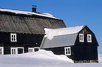 Amérique/Amérique du Nord/Canada/Quebec/Env de Saint-Irénée : Détail d'une grange