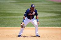 Binghamton Mets first baseman Dominic Smith (22) during a game against the Richmond Flying Squirrels on June 26, 2016 at NYSEG Stadium in Binghamton, New York.  Binghamton defeated Richmond 7-2.  (Mike Janes/Four Seam Images)