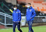 Dundee United v St Johnstone…12.01.21   Tannadice     SPFL<br />Alex Ferguson (left) and Sam Denham pictured on the pitch at Tannadice shortly after arriving.<br />Picture by Graeme Hart.<br />Copyright Perthshire Picture Agency<br />Tel: 01738 623350  Mobile: 07990 594431