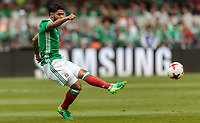Mexico City, Mexico - Sunday June 11, 2017: Carlos Vela during a 2018 FIFA World Cup Qualifying Final Round match with both men's national teams of the United States (USA) and Mexico (MEX) playing to a 1-1 draw at Azteca Stadium.