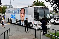 Le chef de la CAQ Francois Legault<br /> en campagne a Laval, le 8 aout 2018.<br /> <br /> PHOTO : Agence Quebec Presse