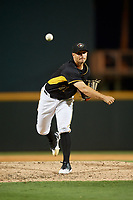 Bradenton Marauders relief pitcher Jess Amedee (31) delivers a pitch during a game against the Dunedin Blue Jays on May 2, 2018 at LECOM Park in Bradenton, Florida.  Bradenton defeated Dunedin 6-3.  (Mike Janes/Four Seam Images)
