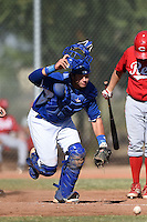 Kansas City Royals catcher Chase Vallot (16) during an Instructional League game against the Cincinnati Reds on October 16, 2014 at Goodyear Training Facility in Goodyear, Arizona.  (Mike Janes/Four Seam Images)