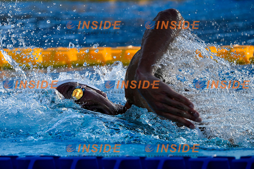 Jacob Heditmann of Germany competes in the men 400m individual medley during the 58th Sette Colli Trophy International Swimming Championships at Foro Italico in Rome, June 26th, 2021. Jacob Heditmann placed second.