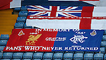 Liverpool and Rangers banner at Hillsborough to remember the fans who never returned home
