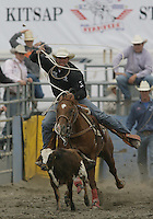 26 Aug 2010:  Jerome Schneeberger scored a time of 8.8 in the slack Tie Down Roping competition at the Kitsap County Stampede Wrangle Million Dollar PRCA Silver Rodeo Tour Bremerton, Washington.