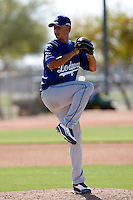 Geison Aguasviva - Los Angeles Dodgers - 2009 spring training.Photo by:  Bill Mitchell/Four Seam Images