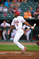 Peoria Chiefs outfielder Kenny Peoples-Walls (12) at bat during a game against the Wisconsin Timber Rattlers on August 21, 2015 at Dozer Park in Peoria, Illinois.  Wisconsin defeated Peoria 2-1.  (Mike Janes/Four Seam Images)