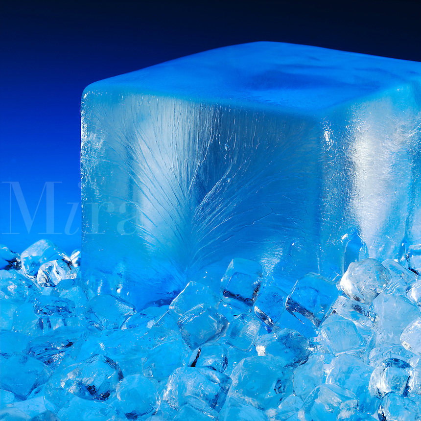 Block and crushed ice.